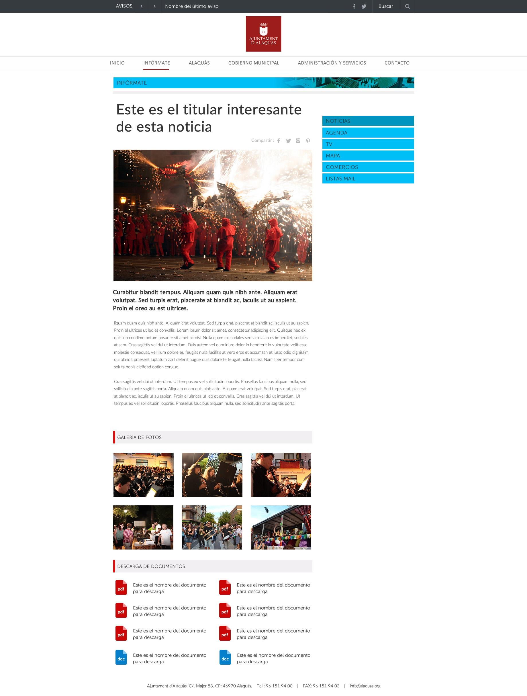 seccion interior web alaquas